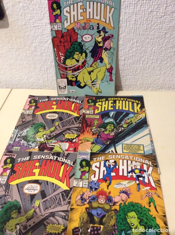 THE SENSATIONAL SHE HULK Nº 6,9,10,17 (HULKA) EDICION EN INGLES (Tebeos y Comics - Comics Lengua Extranjera - Comics USA)
