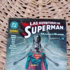 Cómics: LAS AVENTURAS DE SUPERMAN. MUNDO EN GUERRA. NORMA EDITORIAL. 4 SIN USO. W. Lote 101985291