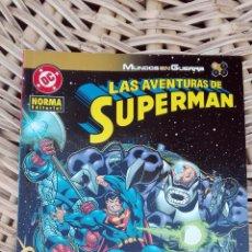 Cómics: LAS AVENTURAS DE SUPERMAN. MUNDO EN GUERRA. NORMA EDITORIAL. 1 SIN USO. W. Lote 101985347