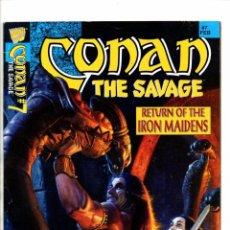 Cómics: CONAN THE SAVAGE 7 - MARVEL MAGAZINE 1996 FN+. Lote 103218835