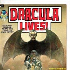 Cómics: DRACULA LIVES 1 - MARVEL MAGAZINE 1973 - VFN-. Lote 103224375