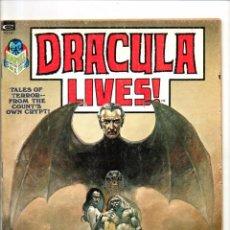 Cómics: DRACULA LIVES 1 - MARVEL MAGAZINE 1973 - FN. Lote 103224527
