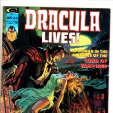 Cómics: DRACULA LIVES 10 - MARVEL MAGAZINE 1975 - VG/FN. Lote 103225435