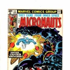 Cómics: MICRONAUTS 8 - MARVEL 1979 G/VG 1ST CAPTAIN UNIVERSE. Lote 103761199