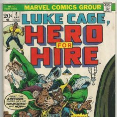 Cómics: LUKE CAGE, HERO FOR HIRE, Nº 8 STEVE ENGLEHART Y GEORGE TUSKA. MARVEL COMICS, 1972. USA. Lote 104649123