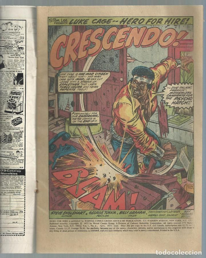 Cómics: LUKE CAGE, HERO FOR HIRE, Nº 8 STEVE ENGLEHART Y GEORGE TUSKA. MARVEL COMICS, 1972. USA - Foto 2 - 104649123
