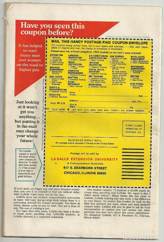 Cómics: LUKE CAGE, HERO FOR HIRE, Nº 8 STEVE ENGLEHART Y GEORGE TUSKA. MARVEL COMICS, 1972. USA - Foto 5 - 104649123