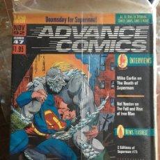 Cómics: ADVANCE COMICS 47 - THE DEATH OF SUPERMAN. Lote 107584227