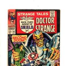 Cómics: STRANGE TALES 161 - MARVEL 1967 FN / NICK FURY & CAPTAIN AMERICA / DOCTOR STRANGE / STERANKO. Lote 109024907