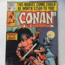 Cómics: CONAN THE BARBARIAN VOL. 1 Nº 114 - MARVEL 1980 EN INGLES . Lote 109482351