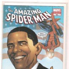 Cómics: COMIC SPIDERMAN NUM. 583 VAR.3RD-EDICION AMERICANA-ESPECIAL OBAMA-NUEVO SIN ABRIR-EN INGLES. MARVEL. Lote 109552343