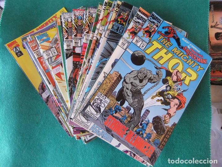 THE MIGHTY THOR LOTE DE 39 NUMEROS ORIGINALES MARVEL U.S.A. (Tebeos y Comics - Comics Lengua Extranjera - Comics USA)