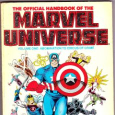 Cómics: THE OFFICIAL HANDBOOK OF THE MARVEL UNIVERSE 1986 VOLUME ONE 128 PAGINAS. Lote 111796995