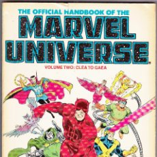 Cómics: THE OFFICIAL HANDBOOK OF THE MARVEL UNIVERSE 1986 VOLUME TWO 128 PAGINAS. Lote 111797219