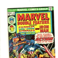 Cómics: MARVEL DOUBLE FEATURE 3 - 1974 - VG - CAPTAIN AMERICA / IRON MAN / JACK KIRBY / GENE COLAN. Lote 112533163