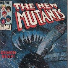 Cómics: NEW MUTANTS VOL.1 # 18 (MARVEL,1984) - FINE - 1ST BILL SIENKIEWICZ - 1ST WARLOCK. Lote 112710423
