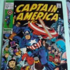 Cómics: CAPITAN AMERICA N-112 USA AÑO 1969. Lote 117314583