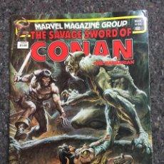 Cómics: THE SAVAGE SWORD OF CONAN # 86 - MUY BUEN ESTADO. Lote 118610183