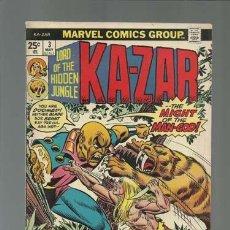 Cómics: KA-ZAR 3, 1974, MARVEL COMICS, MUY BUEN ESTADO. Lote 125122379