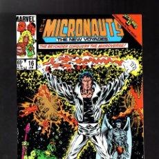 Cómics: MICRONAUTS THE NEW VOYAGES 16 - MARVEL 1986 VFN / SECRET WARS II. Lote 125726211