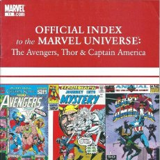 Avengers, Thor & Captain America: Official index to the Marvel universe  vol 1 nº11 (Marvel)