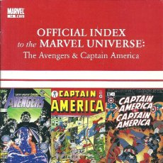 Avengers, Thor & Captain America: Official index to the Marvel universe  vol 1 nº14 (Marvel)