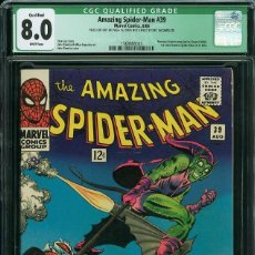 Cómics: AMAZING SPIDER-MAN 39 CGC QUALIFIED 8.0 (VF) WHITE PAGES. COMIC USA SPIDERMAN. MARVEL 1966. ROMITA.. Lote 128485755