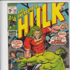 Cómics: INCREDIBLE HULK #141 JULY 1971 FINE- 1ST APPEARANCE OF DOC SAMSON!. Lote 128691747