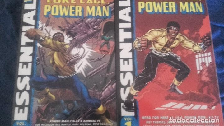 ESSENTIAL LUKE CAGE POWER MAN HERO FOR HIRE VOL 1 Y 2 - MARVEL USA EN INGLÉS BLANCO Y NEGRO (Tebeos y Comics - Comics Lengua Extranjera - Comics USA)