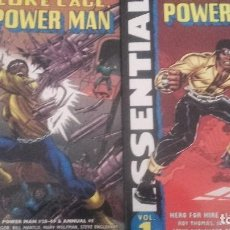 Cómics: ESSENTIAL LUKE CAGE POWER MAN HERO FOR HIRE VOL 1 Y 2 - MARVEL USA EN INGLÉS BLANCO Y NEGRO. Lote 129357551