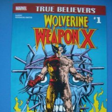 Cómics: TRUE BELIEVERS: WOLVERINE WEAPON X #1 (MARVEL, 2017). Lote 132901602