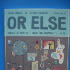 Cómics: OR ELSE #4 (DRAWN & QUATERLY). Lote 132998314