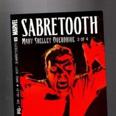 Cómics: X-MEN : SABRETOOTH MARY SHELLEY OVERDRIVE 3 - MARVEL 2002 VFN/NM. Lote 133694526