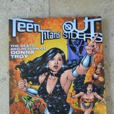 Cómics: TEEN TITANS - OUTSIDERS : MUERTE Y REGRESO DE DONNA TROY. DC. INGLES. NUEVO. Lote 222200137