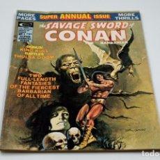 Cómics: THE SAVAGE SWORD OF CONAN SUPER ANNUAL Nº 1 VERANO 1975. Lote 135711803