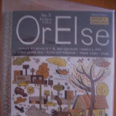 Cómics: OR ELSE #3 (DRAWN & QUATERLY). Lote 137502618