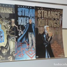 Cómics: STRANGE KILLINGS COMPLETA 3 NUMEROS EN INGLES WARREN ELLIS - AVATAR -. Lote 138117522