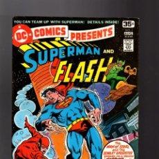 Cómics: DC COMICS PRESENTS 1 SUPERMAN AND FLASH - DC 1978 VG/FN. Lote 140497034