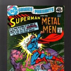 Cómics: DC COMICS PRESENTS 4 SUPERMAN AND METAL MEN - DC 1978 FN. Lote 140497570