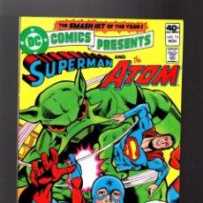 Cómics: DC COMICS PRESENTS 15 SUPERMAN & ATOM - DC 1979 VFN/NM. Lote 140498442