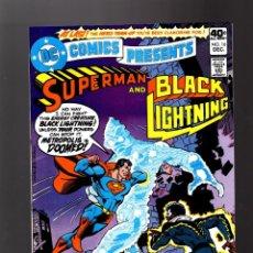 Cómics: DC COMICS PRESENTS 16 SUPERMAN & BLACK LIGHTNING - DC 1979 VFN/NM. Lote 140498638