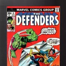 Cómics: DEFENDERS 41 - MARVEL 1976 FN/VFN / DOCTOR STRANGE / POWER-MAN / HULK. Lote 140501222