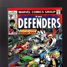 Cómics: DEFENDERS 47 - MARVEL 1977 VFN / MOON KNIGHT / HULK / HELLCAT / VS WONDER MAN. Lote 140502490