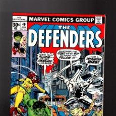 Cómics: DEFENDERS 49 - MARVEL 1977 VFN+ / MOON KNIGHT / HULK / HELLCAT . Lote 140502726