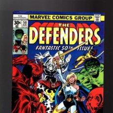 Cómics: DEFENDERS 50 - MARVEL 1977 FN/VFN / MOON KNIGHT / HULK / HELLCAT . Lote 140502886