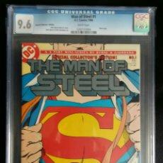 Cómics: SUPERMAN MAN OF STEEL #1 EL HOMBRE DE ACERO CGC 9.6 BYRNE 1986. Lote 141581128