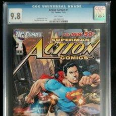 Cómics: SUPERMAN ACTION COMICS #1 NEW 52 CGC 9.8. Lote 141581258