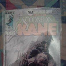 Cómics: THE SWORD OF SOLOMON KANE: Nº 3: PORTADA DE BILL SIENKIEWICZ: MARVEL COMICS. Lote 142429962