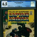 Cómics: TALES OF SUSPENSE 98 CGC 6.5 WHITE PAGES. MARVEL 1968 COMIC USA CAPITAN AMERICA STAN LEE SILVER AGE.. Lote 142487062