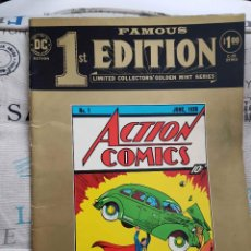 Cómics: FAMOUS FIRST EDITION: ACTION COMICS (TREASURY EDITION, FORMATO GIGANTE, DC, 1974). Lote 143709782